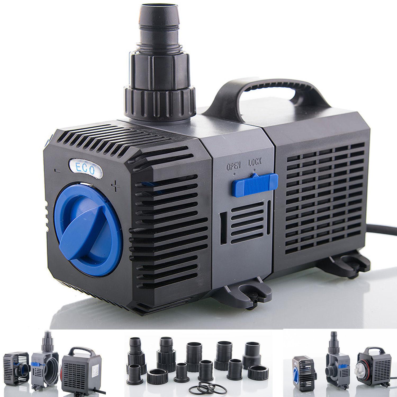 Filter pump to 3000l h energy saving eco pond pump stream for Best pond pump for koi