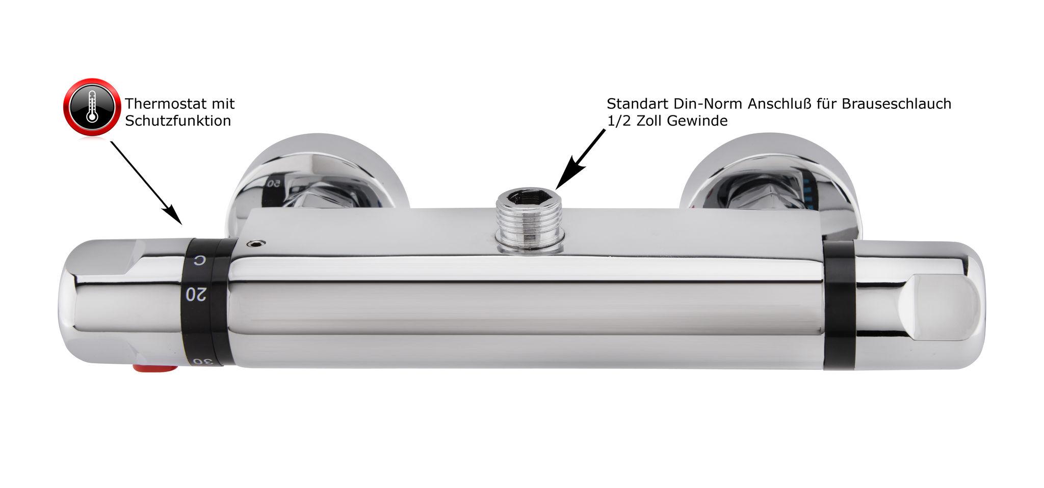 Berühmt Brausethermostat Duschthermostat Mischbatterie Duscharmatur DT49